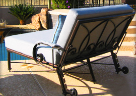 Sunset patio furniture collections bella collection for Bella flora double chaise lounge