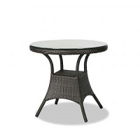 """32"""" Round Dining Table w Clear Glass"""