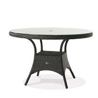 """48"""" Round Dining Table w Clear Glass"""