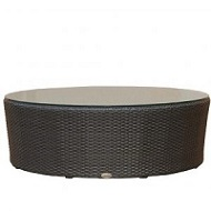 Round Coffee Table w Clear Glass