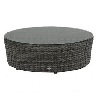 """40"""" Round Coffee Table w Clear Glass"""