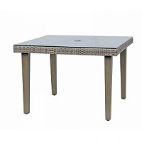 "42"" Square Table w Clear Glass"